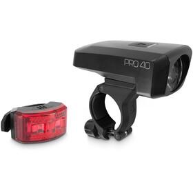 Cube ACID Pro 40 Cykellygter sæt, sort